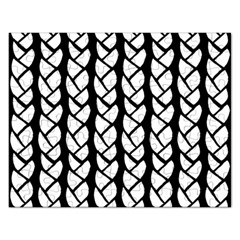 Ropes White Black Line Rectangular Jigsaw Puzzl by Mariart