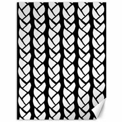 Ropes White Black Line Canvas 36  X 48   by Mariart