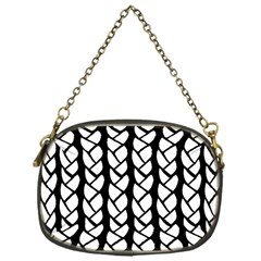 Ropes White Black Line Chain Purses (one Side)  by Mariart