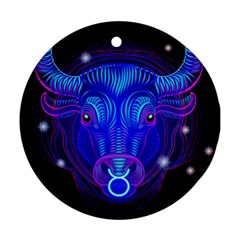 Sign Taurus Zodiac Ornament (round) by Mariart