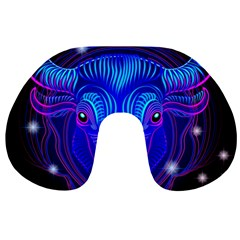 Sign Taurus Zodiac Travel Neck Pillows by Mariart
