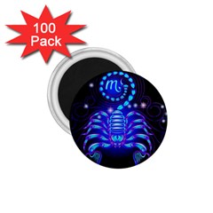 Sign Scorpio Zodiac 1 75  Magnets (100 Pack)  by Mariart