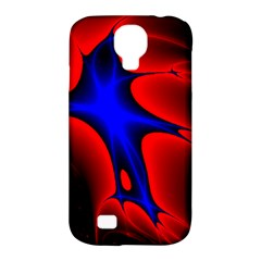 Space Red Blue Black Line Light Samsung Galaxy S4 Classic Hardshell Case (pc+silicone) by Mariart