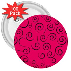 Pattern 3  Buttons (100 Pack)  by ValentinaDesign