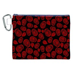 Floral Pattern Canvas Cosmetic Bag (xxl) by ValentinaDesign