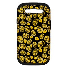 Floral Pattern Samsung Galaxy S Iii Hardshell Case (pc+silicone) by ValentinaDesign