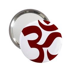 Hindu Om Symbol (dark Red) 2 25  Handbag Mirrors by abbeyz71