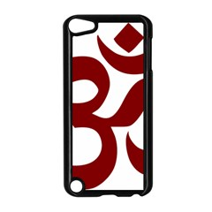Hindu Om Symbol (dark Red) Apple Ipod Touch 5 Case (black) by abbeyz71