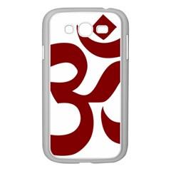 Hindu Om Symbol (dark Red) Samsung Galaxy Grand Duos I9082 Case (white) by abbeyz71