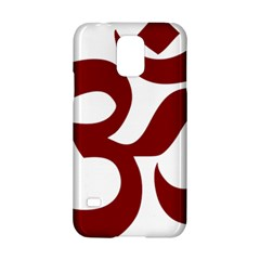 Hindu Om Symbol (dark Red) Samsung Galaxy S5 Hardshell Case  by abbeyz71
