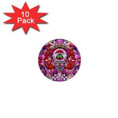 Hawaiian Poi Cartoon Dog 1  Mini Magnet (10 Pack)  by pepitasart