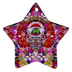Hawaiian Poi Cartoon Dog Star Ornament (two Sides) by pepitasart