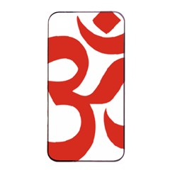 Hindu Om Symbol (red) Apple Iphone 4/4s Seamless Case (black) by abbeyz71