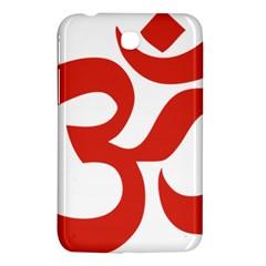 Hindu Om Symbol (red) Samsung Galaxy Tab 3 (7 ) P3200 Hardshell Case  by abbeyz71
