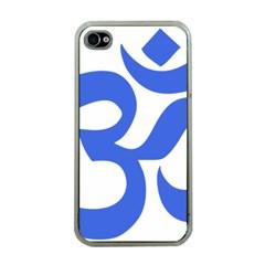 Hindu Om Symbol (royal Blue) Apple Iphone 4 Case (clear) by abbeyz71