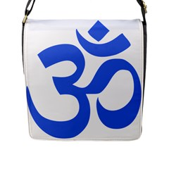 Hindu Om Symbol (royal Blue) Flap Messenger Bag (l)  by abbeyz71
