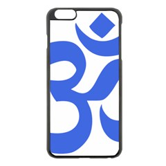 Hindu Om Symbol (royal Blue) Apple Iphone 6 Plus/6s Plus Black Enamel Case by abbeyz71