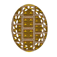 Pasta Con Fish Al Diente Oval Filigree Ornament (two Sides) by pepitasart