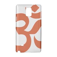Hindu Om Symbol (salmon) Samsung Galaxy Note 4 Hardshell Case by abbeyz71