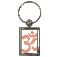 Hindu Om Symbol (salmon) Key Chains (rectangle)  by abbeyz71