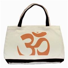 Hindu Om Symbol (salmon) Basic Tote Bag by abbeyz71