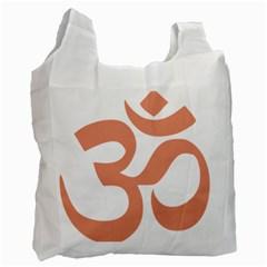 Hindu Om Symbol (salmon) Recycle Bag (one Side) by abbeyz71