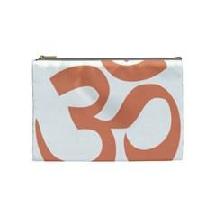Hindu Om Symbol (salmon) Cosmetic Bag (medium)  by abbeyz71