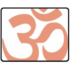 Hindu Om Symbol (salmon) Double Sided Fleece Blanket (medium)  by abbeyz71