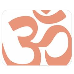 Hindu Om Symbol (salmon) Double Sided Flano Blanket (medium)  by abbeyz71