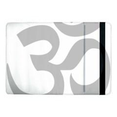 Hindu Om Symbol (gray) Samsung Galaxy Tab Pro 10 1  Flip Case by abbeyz71