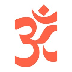 Hindu Om Symbol (peach) Shower Curtain 48  X 72  (small)  by abbeyz71
