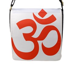 Hindu Om Symbol (peach) Flap Messenger Bag (l)  by abbeyz71