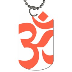Hindu Om Symbol (peach) Dog Tag (one Side) by abbeyz71