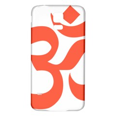 Hindu Om Symbol (peach) Samsung Galaxy S5 Back Case (white) by abbeyz71