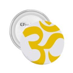 Hindu Om Symbol (yellow) 2 25  Buttons by abbeyz71