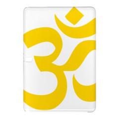 Hindu Om Symbol (yellow) Samsung Galaxy Tab Pro 12 2 Hardshell Case by abbeyz71