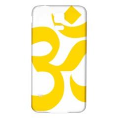 Hindu Om Symbol (yellow) Samsung Galaxy S5 Back Case (white) by abbeyz71