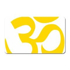 Hindu Om Symbol (yellow) Magnet (rectangular) by abbeyz71