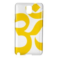 Hindu Om Symbol (yellow) Samsung Galaxy Note 3 N9005 Hardshell Case by abbeyz71