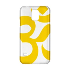 Hindu Om Symbol (yellow) Samsung Galaxy S5 Hardshell Case  by abbeyz71