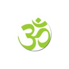 Hindu Om Symbol (lime Green) Golf Ball Marker (4 Pack) by abbeyz71