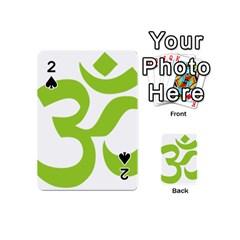Hindu Om Symbol (lime Green) Playing Cards 54 (mini)  by abbeyz71