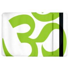 Hindu Om Symbol (lime Green) Ipad Air 2 Flip by abbeyz71