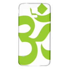 Hindu Om Symbol (lime Green) Samsung Galaxy S5 Back Case (white) by abbeyz71