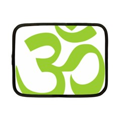 Hindu Om Symbol (lime Green) Netbook Case (small)  by abbeyz71
