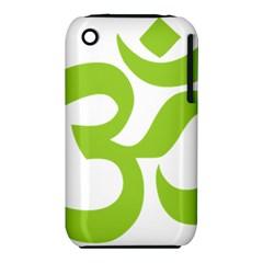 Hindu Om Symbol (lime Green) Iphone 3s/3gs by abbeyz71