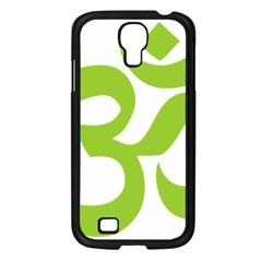 Hindu Om Symbol (lime Green) Samsung Galaxy S4 I9500/ I9505 Case (black) by abbeyz71