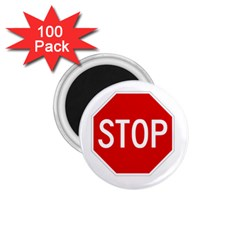 Stop Sign 1 75  Magnets (100 Pack)  by Valentinaart