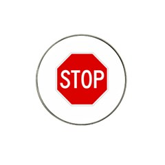 Stop Sign Hat Clip Ball Marker by Valentinaart