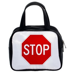 Stop Sign Classic Handbags (2 Sides) by Valentinaart